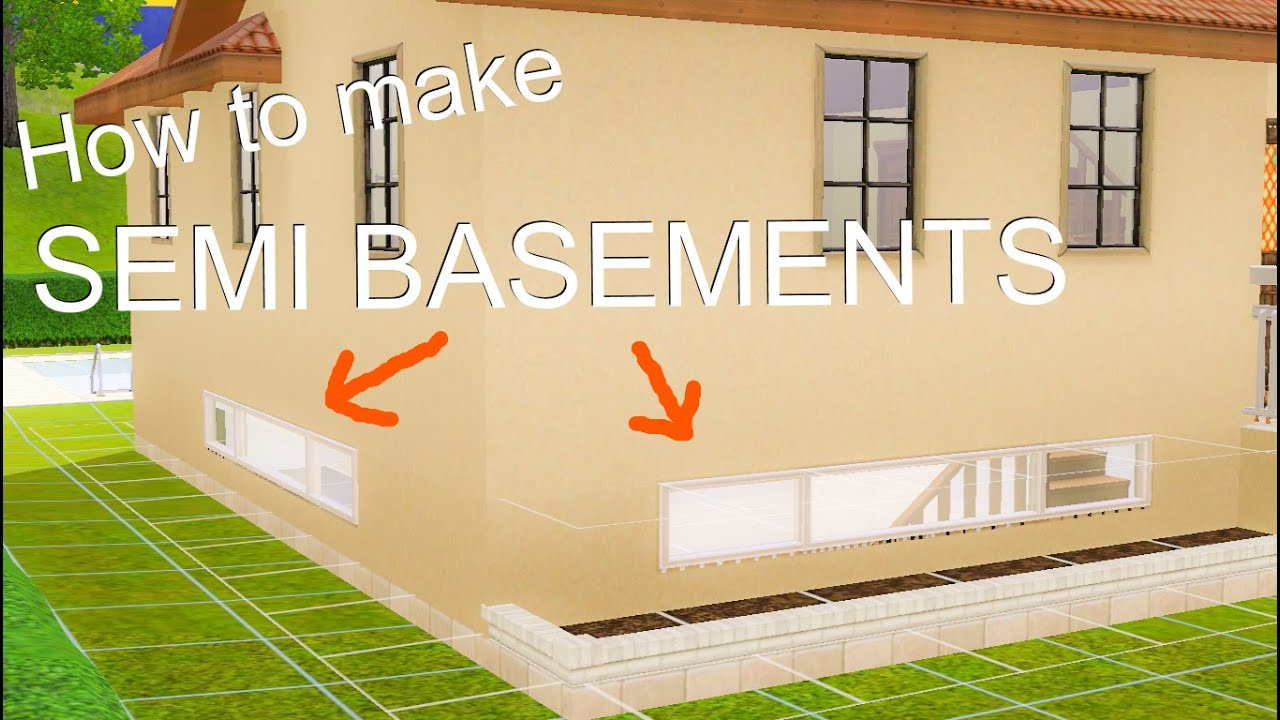 How To Make Semi Basements With Windows On The Sims 3 シムズ3 半地下 窓付き地下室 の作り方 日本語字幕