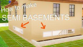 How to make semi basements (basements with windows) on The Sims 3 シムズ3 半地下(窓付き地下室)の作り方 (日本語字幕)