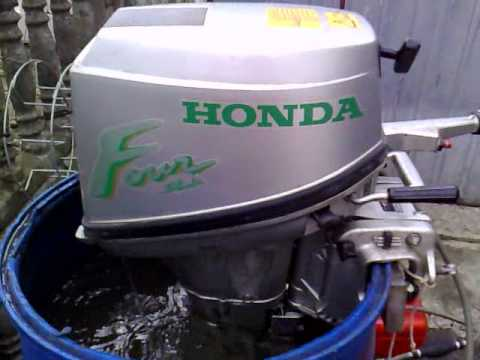 Honda 6 hp outboard motor 2002r. four stroke ( 4-SUW ) - YouTube