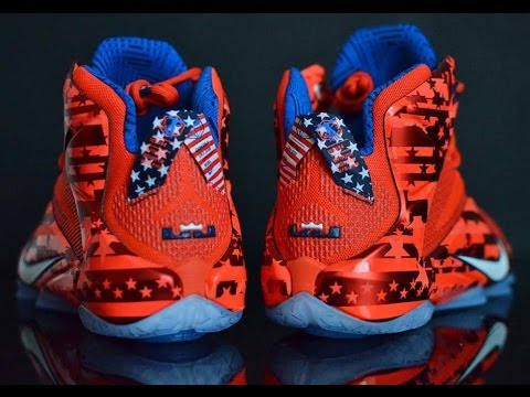 4955251ecef Nike Lebrons 12 Independence Day Unboxing - YouTube