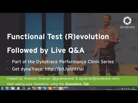 Online Perf Clinic - Function Test (R)evolution