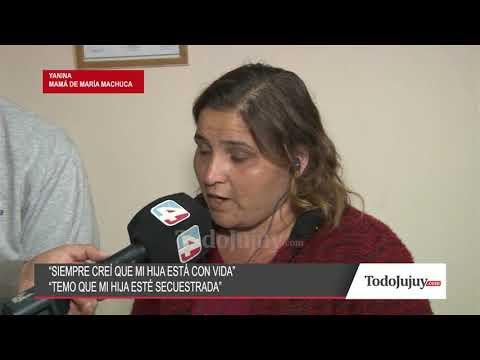 La familia de María Machuca sospecha que su hija está viva y puede estar secuestrada