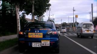 路上教習車ウインカー出すの早すぎ+対向右折車 早曲がり thumbnail