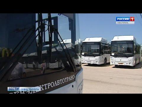 В Севастополе 20 новых автобусов вышли на маршруты