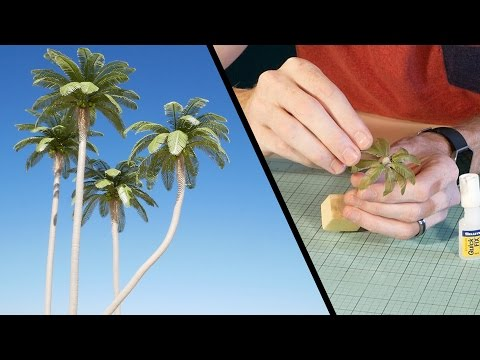Coconut Palm Tree Tutorial – Model Scenery
