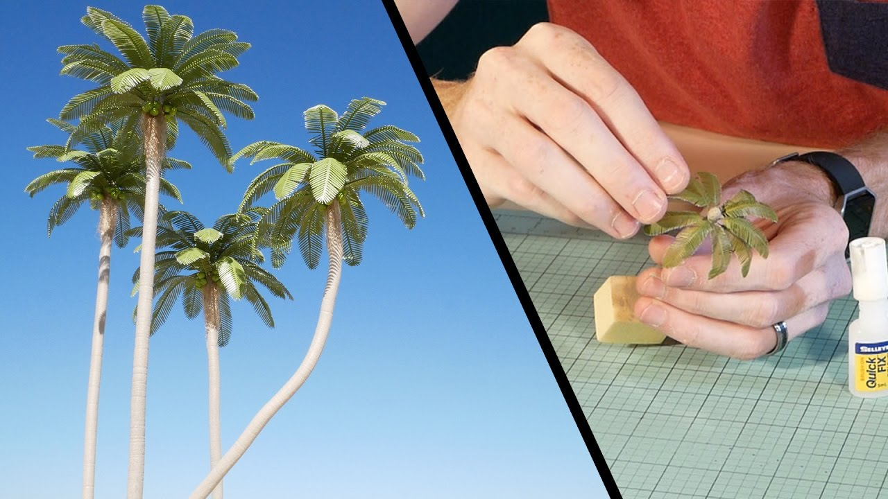 Coconut Palm Tree Tutorial Model Scenery Youtube - Palm-tree-furniture-from-pacific-green
