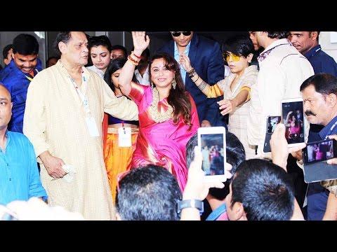 Rani Mukerji's first appearance post baby at Durga Puja; Watch Video | Filmibeat