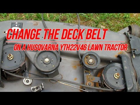 Replace Deck Belt on Husqvarna YTH22V46 Yard Tractor