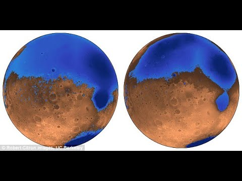 Oceans on Mars formed 300 million years earlier than first thought after volcanic eruptions shook the red planet ...