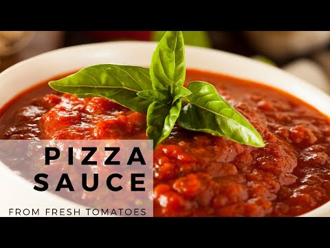 Easy Pizza Sauce From Scratch | Homemade Pizza Sauce Recipe From Fresh Tomatoes