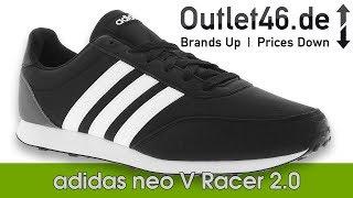 Portero seda depositar  Adidas Neo V Racer 2.0 l DEUTSCH Review l On Feet l Haul l Overview l  Outlet46.de - YouTube