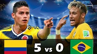 Colombia 5 vs Brasil 0 - Amistoso Internacional 2017 - Parodia Eliminatorias BrUjO FX