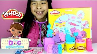 Tuesday Play Doh Doc McStuffins Doctor Kit with Lambie, Stuffy, Hallie, Chilly