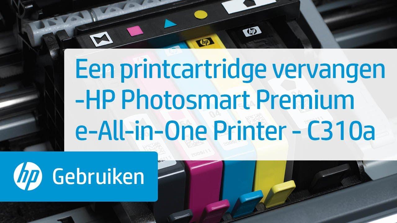 Een printcartridge vervangen -HP Photosmart Premium e-All