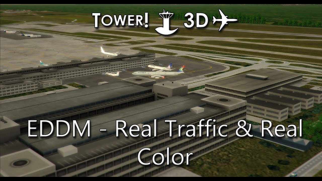 Tower!3D Pro - EDDM - Real Traffic & Real Color