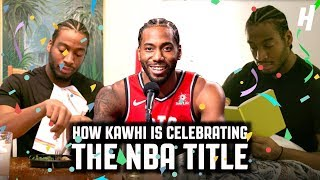 How Kawhi Leonard Is Celebrating After Winning The NBA Finals