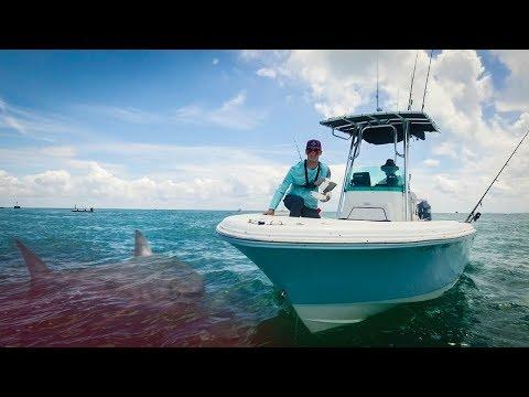 Giant Shark Rips Apart 200 LB Tarpon Fishing Boca Grand Hill Tide - Episode 26