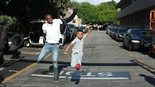 Jamaican Kid Trainer Challenges Usain Bolt to a Race!