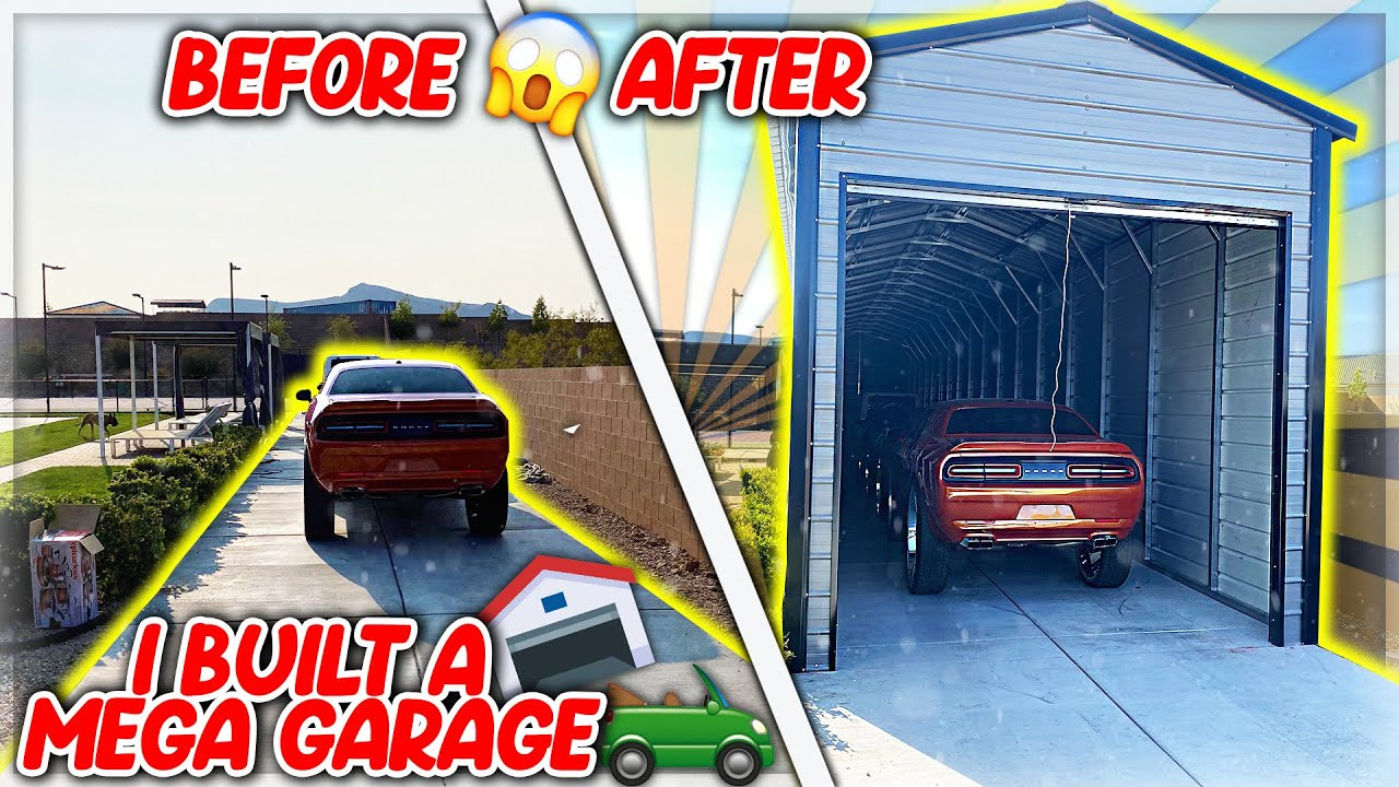 I Built A Mega Garage In 2 Days For All My Cars!!!