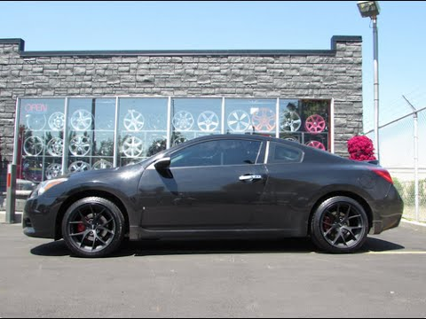 2013 Nissan Altima Coupe On Custom 18 Inch Matte Black Rims Tires