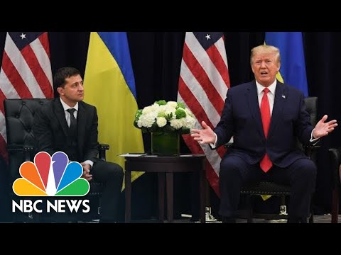 'Nobody Pushed Me': President Of Ukraine Denies Being Pressured By President Donald Trump | NBC News