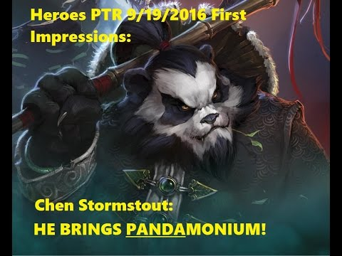 I BRING PANDAMONIUM!! Heroes of the Storm 9/19 PTR Chen First Impressions and Theorycrafting