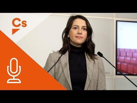 Inés Arrimadas. Rueda de Prensa desde el Parlament de Catalunya