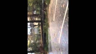 Ann klein forensic center Hurricane Sandy parking lot
