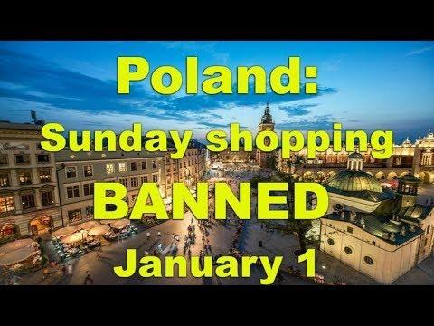 Poland: Total BAN on Sunday shopping Jan.1