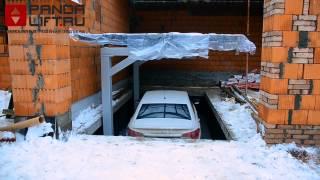 Автомобильный лифт в частном доме или лифт в подземный гараж(Строительство частного жилого дома с гаражом, расположенным на цокольном этаже площадью 300 кв.м. Гараж вмещ..., 2014-04-08T09:39:38.000Z)