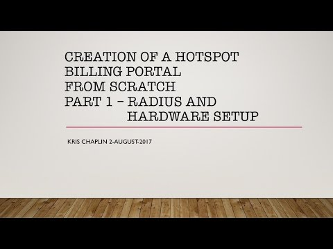 Creation of a hotspot billing portal - From Scratch - Part 1 - RADIUS and hardware setup