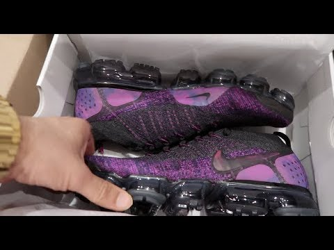 e791868e377 NIKE AIR VAPORMAX FLYKNIT 2 'NIGHT PURPLE' REVIEW, ON FEET, UNBOXING ...