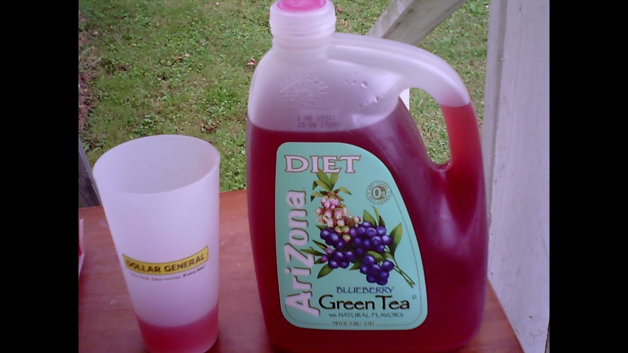 review Arizona Diet Blueberry Green Tea - YouTube