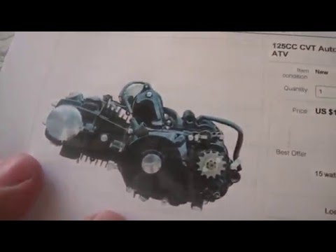 how to wire a honda clone 125cc atv motor  ignition and battery, - youtube
