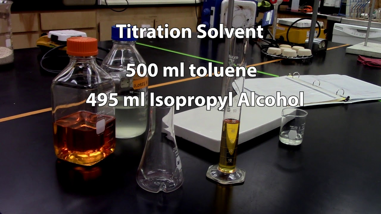 titration of oil for free fatty acids