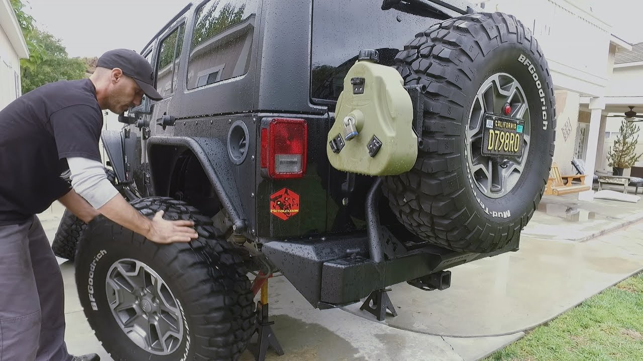 How To Rotate Your Spare Tire Into Duty On Your Jeep Wrangler Or 4x4