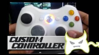 Custom Xbox 360 Controllers: Orange And White Leds