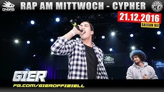 RAP AM MITTWOCH FRANKFURT: 21.12.16 Die Cypher feat. GIER, VYRUS uvm. (1/4)