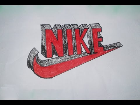 How to Draw Nike Logo in 3D Step By Step Drawing - NIKE LOGO - Best Nike  swoosh nTc Tricks