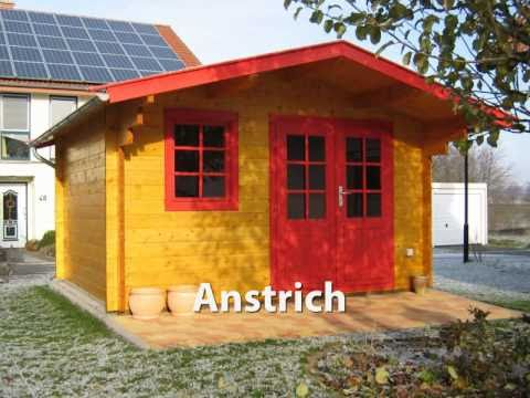 blockhaus aufbau eines gartenhauses einfach und. Black Bedroom Furniture Sets. Home Design Ideas