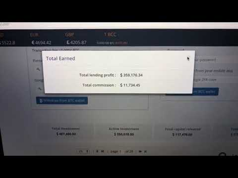 $350,000 earned interest from BitConnect loans