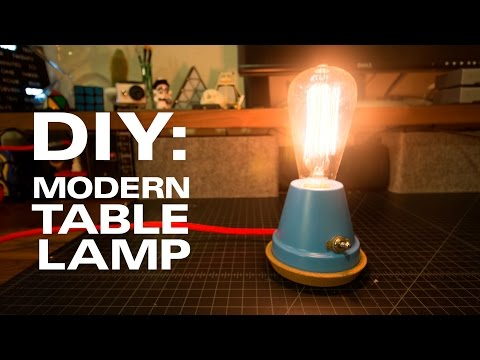 DIY // A Modern Table Lamp