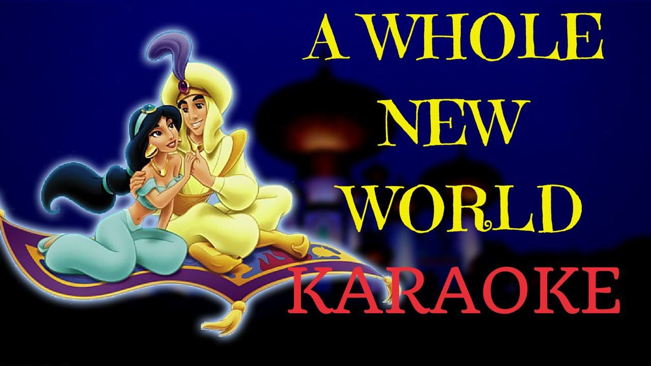 A Whole New World - Aladdin (Multilanguage Karaoke) - YouTube