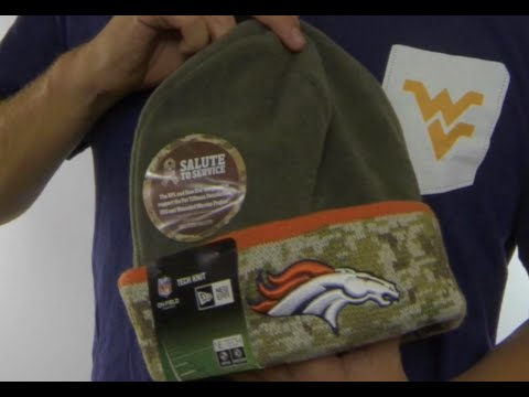 Broncos  2014 SALUTE-TO-SERVICE  Knit Beanie Hat by New Era - YouTube f88984b2d0d
