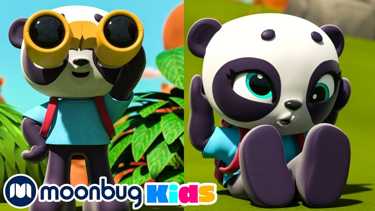The Panda Bear Went Over the Mountain | Learn with Little Baby Bum Nursery Rhymes | ABCs 123s