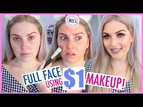 $1 MAKEUP FULL FACE! 😱💦 First Impressions Tutorial 💜 Shop Miss A