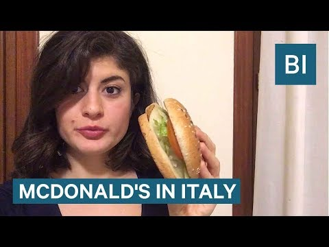 All The Food You Can Only Find At A McDonald's In Italy