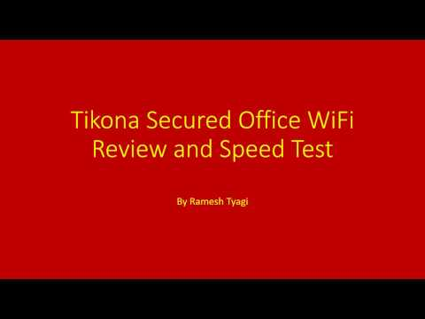 Tikona Review for Secured Office WiFi along with Online Speed Test for Tikona