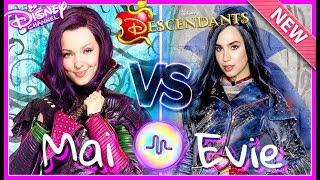 Disney Descendants 2 Dove Cameron VS Sofia Carson Musical.ly Battle 2017
