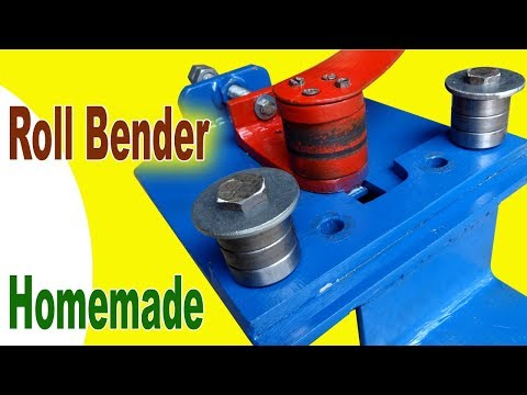 How to make a Roll Bender for Flat Steel and Steel Bar. Homemade Roll Bender Project 2